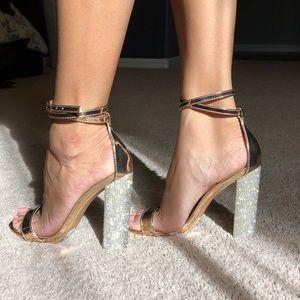 WINDSOR Vesta Rose gold heels